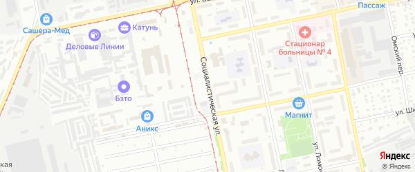 Социалистическая улица на карте Бийска с номерами домов