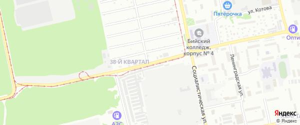 Улица Михаила Кутузова на карте Бийска с номерами домов