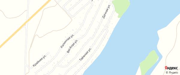 Дачная улица на карте садового некоммерческого товарищества Катуня с номерами домов