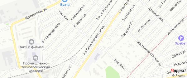 2-я Севастопольская улица на карте Бийска с номерами домов