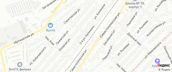 Улица 2-я Михаила Калинина на карте Бийска с номерами домов