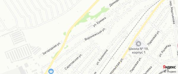 Воронежская улица на карте Бийска с номерами домов