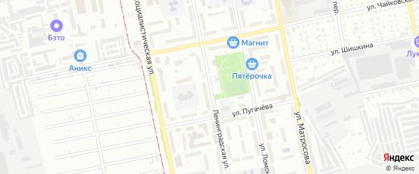 Ленинградская улица на карте Бийска с номерами домов