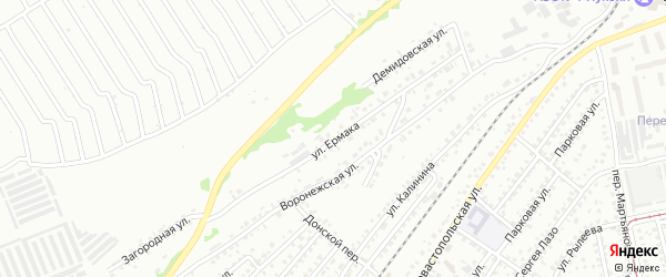 Улица Ермака на карте Бийска с номерами домов