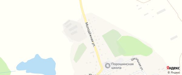 Молодежная улица на карте села Порошино с номерами домов