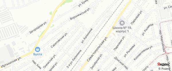 Улица Михаила Калинина на карте Бийска с номерами домов