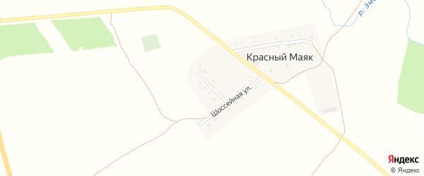 Молодежная улица на карте поселка Красного Маяка с номерами домов