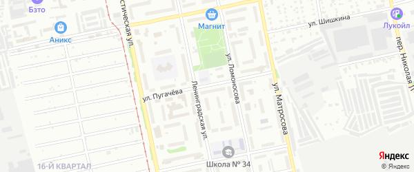 Улица Емельяна Пугачева на карте Бийска с номерами домов