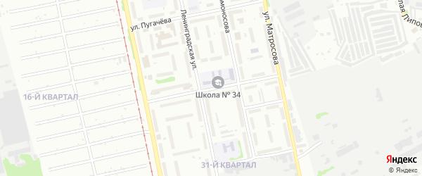 Улица Александра Можайского на карте Бийска с номерами домов