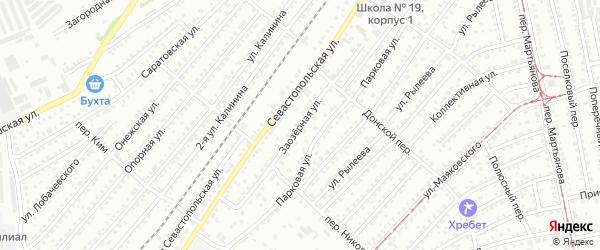 Заозёрная улица на карте Бийска с номерами домов