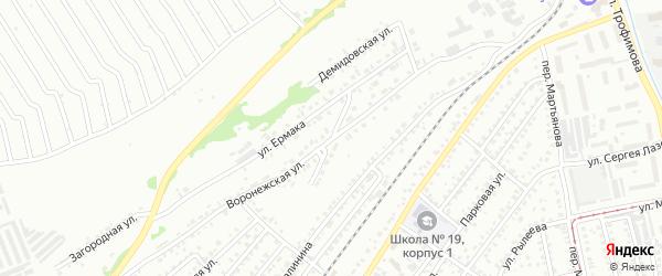Светлый переулок на карте Бийска с номерами домов