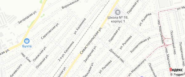 Севастопольская улица на карте Бийска с номерами домов