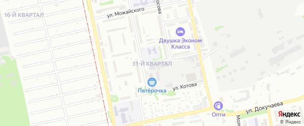 31-й квартал на карте садового некоммерческого товарищества Строителя с номерами домов