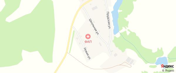 Школьная улица на карте поселка Каменушки с номерами домов