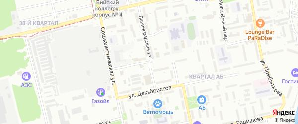 Улица имени Героя Советского Союза Спекова на карте Бийска с номерами домов