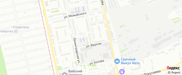Улица Михаила Ломоносова на карте Бийска с номерами домов