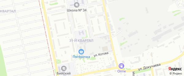 Улица Михаила Фрунзе на карте Бийска с номерами домов