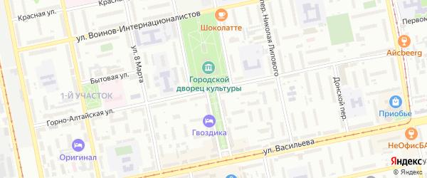 Горно-Алтайская улица на карте Бийска с номерами домов