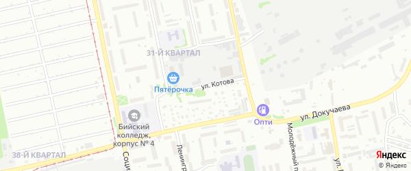 Улица Котова на карте Бийска с номерами домов