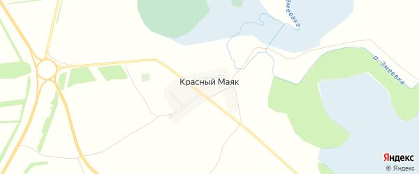Карта поселка Красного Маяка в Алтайском крае с улицами и номерами домов