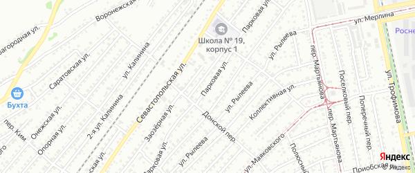 Парковая улица на карте Бийска с номерами домов