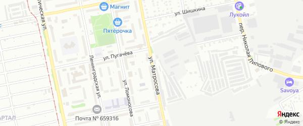 Улица Александра Матросова на карте Бийска с номерами домов