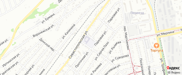 Сигнальный переулок на карте Бийска с номерами домов