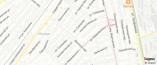 Коллективная улица на карте Бийска с номерами домов