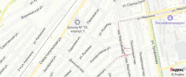 Полевой переулок на карте Бийска с номерами домов