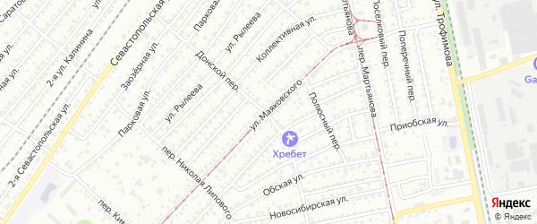 Улица Владимира Маяковского на карте Бийска с номерами домов
