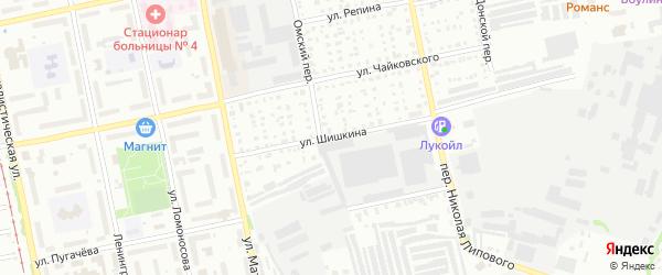 Улица Ивана Шишкина на карте Бийска с номерами домов