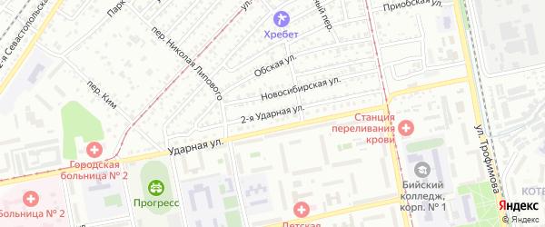 2-я Ударная улица на карте Бийска с номерами домов