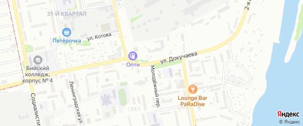 Улица Василия Докучаева на карте Бийска с номерами домов