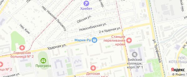 Донской переулок на карте Бийска с номерами домов