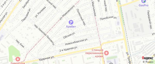 Обская улица на карте Белокурихи с номерами домов