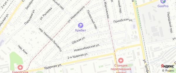 Обская улица на карте Бийска с номерами домов