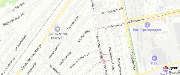 Жилой переулок на карте Бийска с номерами домов