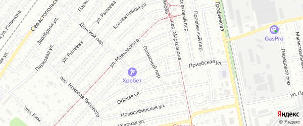 Полюсный переулок на карте Бийска с номерами домов