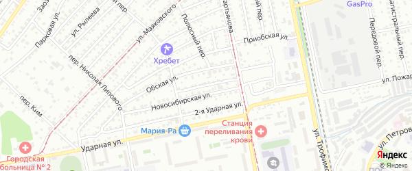 2-я Новосибирская улица на карте Бийска с номерами домов