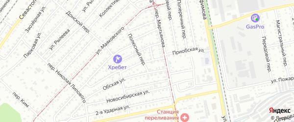 Приобская улица на карте Бийска с номерами домов
