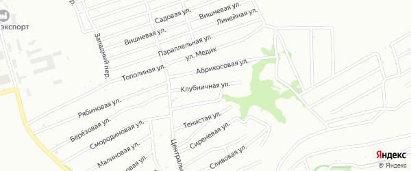 Клубничная улица на карте садового некоммерческого товарищества N 8 с номерами домов