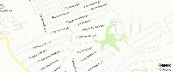 Клубничная улица на карте садового некоммерческого товарищества Обские зори с номерами домов