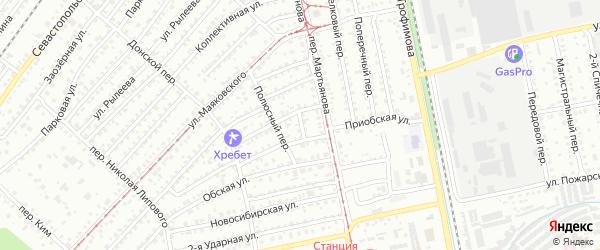 Суровый переулок на карте Бийска с номерами домов