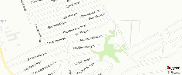 Абрикосовая улица на карте садового некоммерческого товарищества N 12 с номерами домов