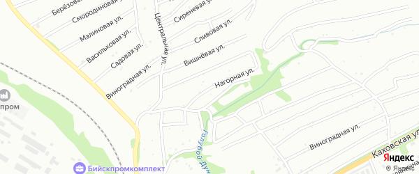 Нагорная улица на карте садового некоммерческого товарищества Иртыша с номерами домов