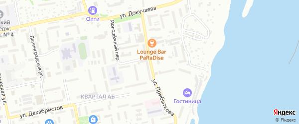 Улица Георгия Прибыткова на карте Бийска с номерами домов