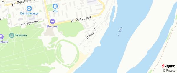 Дачная улица на карте Бийска с номерами домов