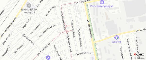 Поселковый переулок на карте Бийска с номерами домов