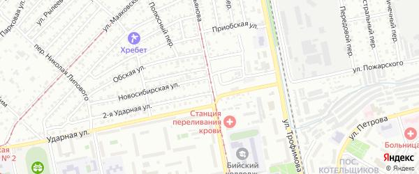 Переулок Владимира Мартьянова на карте Бийска с номерами домов