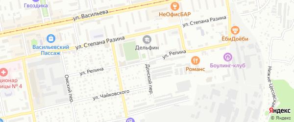 Улица Ильи Репина на карте Бийска с номерами домов